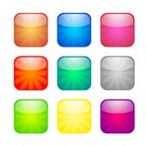 Set of glossy button icons. For design stock illustration