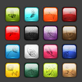 Set of glossy button icons for your design Stock Photos