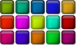 Set of glossy button icons for your design. Set of glossy button icons for your design Stock Image
