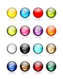 Set of glossy button icons for your design Stock Image