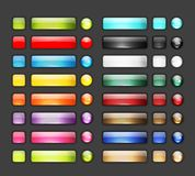 Set of glossy button icons for your design Royalty Free Stock Photography