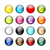 Set of glossy button icons for your design Royalty Free Stock Photo