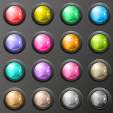 Set of glossy button for web applications. Royalty Free Stock Images