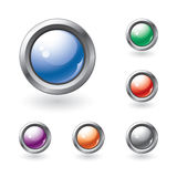 Set of glossy buttons Royalty Free Stock Image