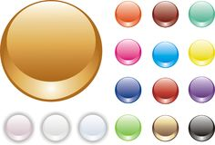 Set of glossy buttons Royalty Free Stock Photos