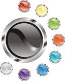 Set of glossy buttons Royalty Free Stock Photo