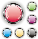 Set of glossy buttons Stock Images