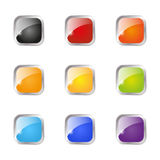 Set of glossy buttons. Isolated on white stock illustration