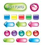 Set of glossy buttons Stock Image