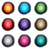 Set glossy buttons Stock Images