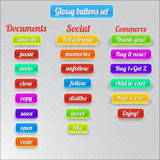 Set of glossy buttons Stock Photo