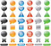 Set Of Glossy Buttons Royalty Free Stock Photography