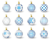Set of glossy Christmas balls Stock Image