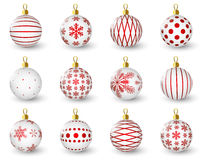Set of glossy Christmas balls Stock Photo