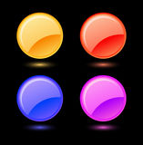 Set of  glossy circles Stock Photography