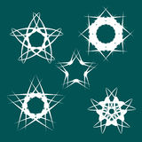 Set of glossy design elements in form stars Stock Image
