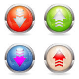 Set Glossy Download and Upload Buttons Royalty Free Stock Photos