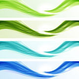 Set of glossy ecological wave banners Royalty Free Stock Photography