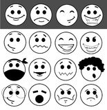 Set of glossy Emoticons Stock Photos