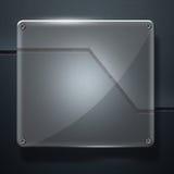Set 8. glossy glass on gray metal wall Royalty Free Stock Image
