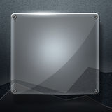 Set 8. glossy glass on gray metal wall Royalty Free Stock Images