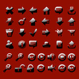 Set of glossy icon stock image