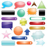 Set of glossy icon for web Stock Photos