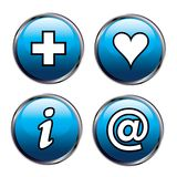 Set of glossy icons Stock Image