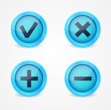 Set of glossy icons Stock Images