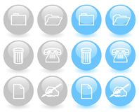 Set of glossy icons (ver 1) Royalty Free Stock Photography