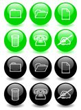 Set of glossy icons (ver 2) Stock Image