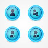 Set of glossy internet icons Royalty Free Stock Photo