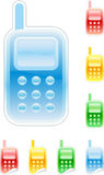 Set of glossy mobile phone Stock Images