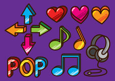 Glossy music icon Stock Image