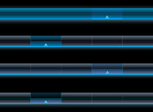 Set of glossy navigation bars Stock Photo