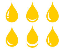 Set of glossy oil drop Royalty Free Stock Image