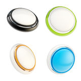Set of glossy plastic buttons isolated Royalty Free Stock Photo