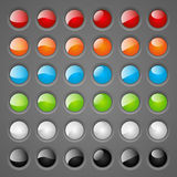 Set of round buttons Royalty Free Stock Images