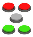 Set of glossy round buttons Stock Images