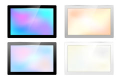 Set of glossy screen frames for your text Stock Images