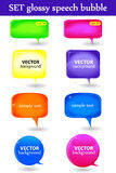 Set glossy speech bubble Royalty Free Stock Photo