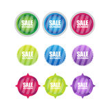 Set of glossy striped Buttons. Stock Photography