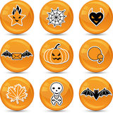 Set of glossy vector Halloween icons for your Stock Image