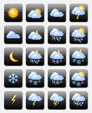 Weather icons. Set of glossy weather icons useful for webdesign purposes Stock Photo