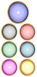 Set of glossy web buttons. For web design Stock Image