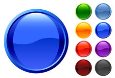 Set of glossy web buttons. Illustration of a set of glossy web buttons for sites and software Stock Photography