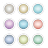 A set of glossy web buttons in different colors Royalty Free Stock Photography