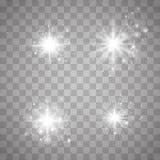 Set glow light effect stock illustration