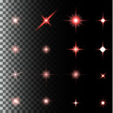 Set of glow light effect stars bursts with sparkles. Creative concept Vector set of glow light effect stars bursts with sparkles on transparent background. For Stock Photos