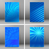 Set of glow theme brochure cover page A4 format06 Stock Photo